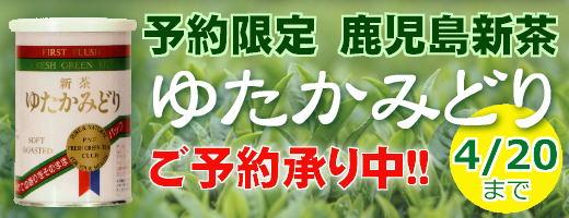 九州一の茶産地、鹿児島県産の予約限定新茶、ご予約締め切り4月20日まで承り中です